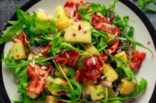 Salade au chorizo et tomates