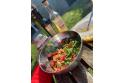 Salade de blé composée à la vinaigrette aux agrumes