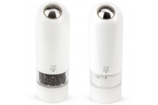 Alaska duo Blanc (Moulin à poivre et Sel électrique) 17cm
